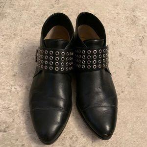 Michael Kors black leather bootie